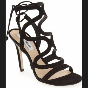 Steve Madden strappy black heels